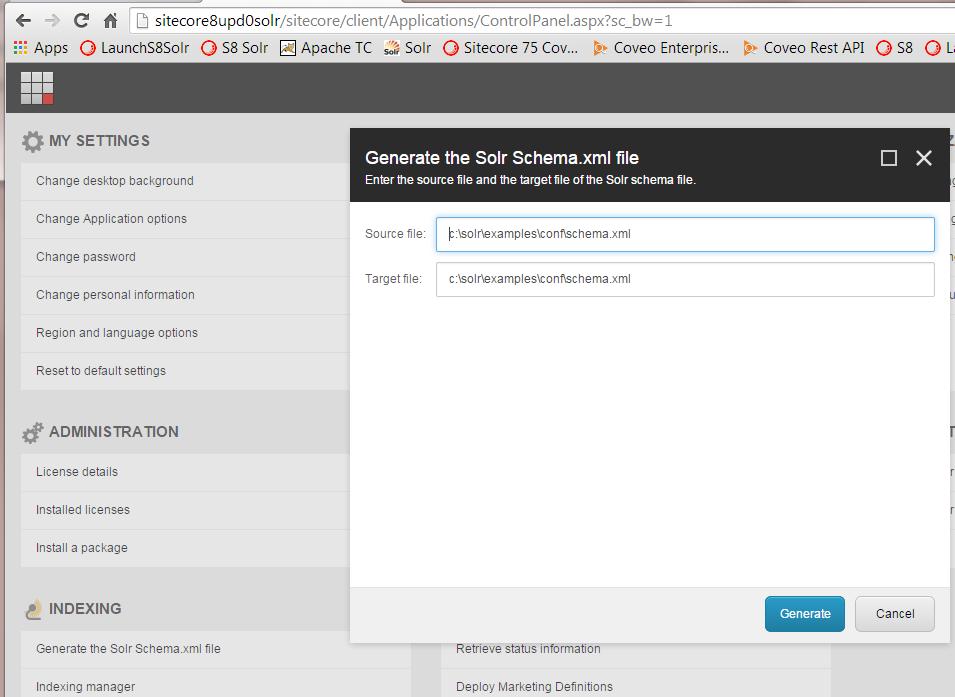 Sitecore 8 Solr Configuration and Setup