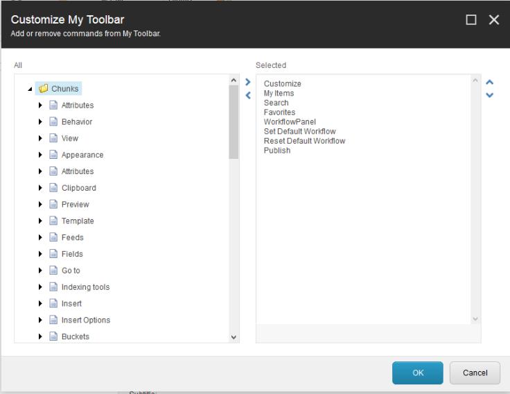 My toolbar 1