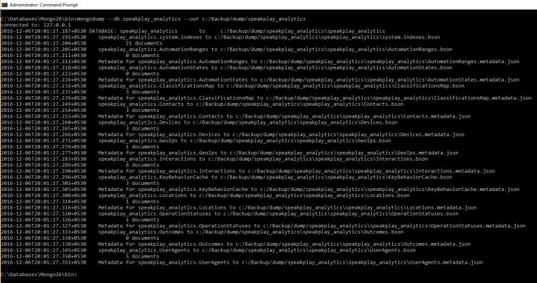 Mongo specific database